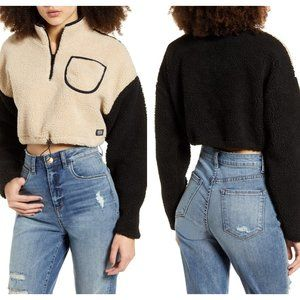 BDG URBAN OUTFITTERS Cropped Teddy Fleece Jacket L
